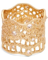 Aurelie Bidermann | Diamond, Aquamarine & Yellow-gold Ring | Lyst