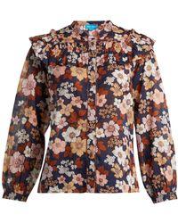 M.i.h Jeans - Hayden Floral-print Cotton Blouse - Lyst
