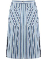 Isabel Marant | Sphery Striped Cotton Skirt | Lyst