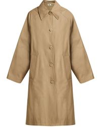 MM6 by Maison Martin Margiela - Oversized A-line Cotton Coat - Lyst