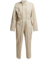 Stella McCartney - Zipped Twill Boiler Suit - Lyst