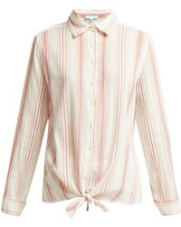 Melissa Odabash - Inny Striped Cotton Shirt - Lyst