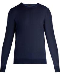 Bottega Veneta - Intrecciato-trim Wool Sweater - Lyst