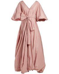 1ae2f4f4305 The Row Silk Asymmetric-back Gown in White - Lyst