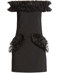 Christopher Kane - Off-the-shoulder Ruffled Mini Dress - Lyst