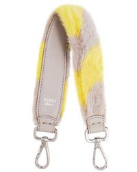Fendi - Strap You Mini Striped Fur Bag Strap - Lyst