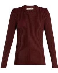 Martine Rose - Ribbed Knit Cotton Sweatshirt - Lyst