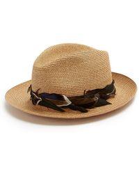 Filù Hats | Sinatra Feather-trimmed Straw Hat | Lyst