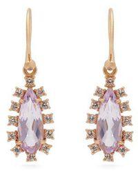 Irene Neuwirth - - 18kt Gold, Diamond & Rose Of France Stone Earrings - Womens - Pink - Lyst