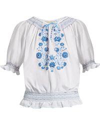 Muzungu Sisters - Dora Embroidered Cotton Top - Lyst
