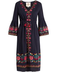 Figue - Junie Floral Embroidered Dress - Lyst