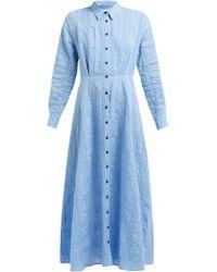 03fc21b904e Mara Hoffman - Michelle Linen And Cotton Blend Dress - Lyst