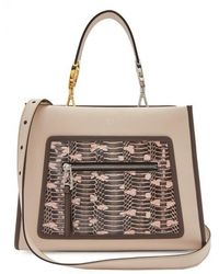 da9fe38ddf6f Lyst - B Brian Atwood Aston Watersnake Crossbody Bag