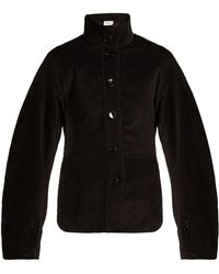 Lemaire - High Collar Cotton Corduroy Jacket - Lyst