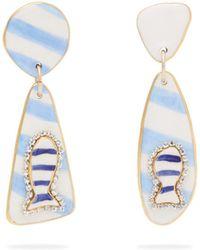 Sonia Boyajian - Miller Mismatched Ceramic Drop Earrings - Lyst