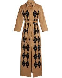 Attico - Mia Argyle-embellished Coat - Lyst