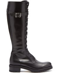 Rupert Sanderson - Duncan Lace-up Knee-high Leather Boots - Lyst