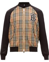 Burberry Bomber à carreaux et Monogram TB Harlington - Multicolore