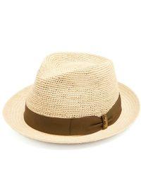 Borsalino - Woven And Crochet Straw Panama Hat - Lyst