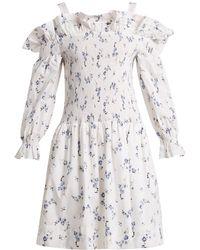 Rebecca Taylor - Francine Off-the-shoulder Floral-print Dress - Lyst