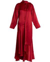 ROKSANDA - Robe en satin de soie nouée à l'encolure Alida - Lyst