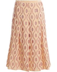 Marni - Embroidered Eyelet A Line Midi Skirt - Lyst