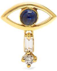 Ileana Makri - Diamond, Sapphire & Yellow-gold Earring - Lyst