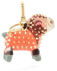 Burberry - Wendy Sheep Cashmere Key Ring - Lyst