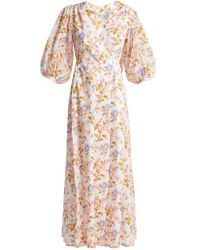 Thierry Colson - Phoebe Floral Print Cotton Maxi Dress - Lyst
