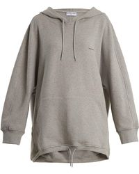 Balenciaga - Cocoon Logo Embroidered Hooded Sweatshirt - Lyst