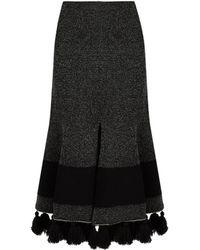 Proenza Schouler | Tasselled-hem Flared Skirt | Lyst