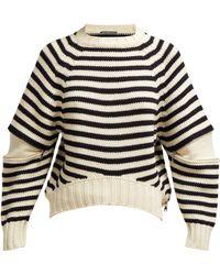 Alexander McQueen - Zip Sleeve Wool Jumper - Lyst