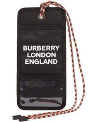 Burberry Logo Print Cardholder Necklace - Black