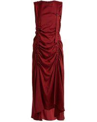 JOSEPH - Hall Ruched-detail Sleeveless Dress - Lyst