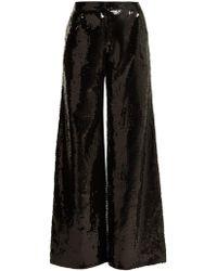 Halpern - Wide-leg Sequined Trousers - Lyst