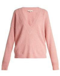 Tibi - Oversized V-neck Alpaca-blend Sweater - Lyst