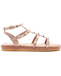 Valentino - Torchon Rockstud Leather Sandals - Lyst