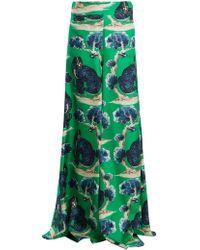 Gucci | Wild Cat-print High-rise Wide-leg Silk Trousers | Lyst