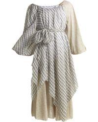 Anna October - Off-the-shoulder Printed Cotton-blend Dress - Lyst