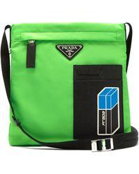 Prada - Logo Plaque Nylon Cross Body Bag - Lyst