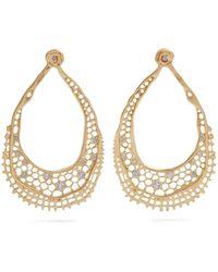 Aurelie Bidermann - Lace Diamond & Yellow-gold Earrings - Lyst