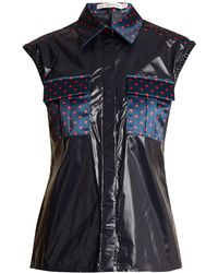 Mary Katrantzou - Lily Polka-dot Detail Sleeveless Shirt - Lyst