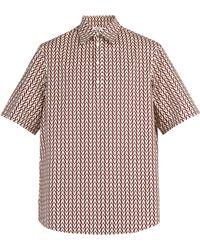 Valentino - Optical Print Cotton Shirt - Lyst