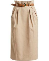 Gabriela Hearst - Jordon Paperbag-waist Cotton Skirt - Lyst