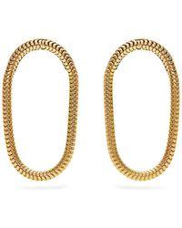 Fernando Jorge - Yellow Gold Parallel Earrings - Lyst