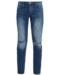 Neuw - Iggy Ripped-knee Slim-leg Denim Jeans - Lyst