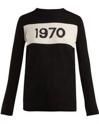 Bella Freud - 1970 Intarsia Knit Sweater - Lyst