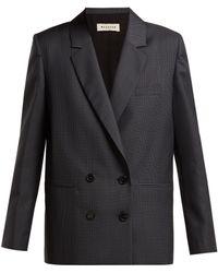 MASSCOB - Liv Prince Of Wales Checked Wool Blend Blazer - Lyst