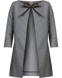 Shrimps - Beatrice Checked Coat - Lyst