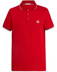 Moncler - Maglia Logo-appliqué Cotton-piqué Polo Shirt - Lyst